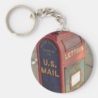 Vintage Mailbox Basic Round Button Keychain