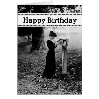Vintage Mailbox Happy Birthday Greeting Card