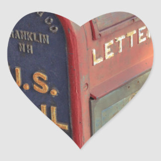 Vintage Mailbox Heart Sticker
