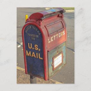 Vintage Mailbox Postcard