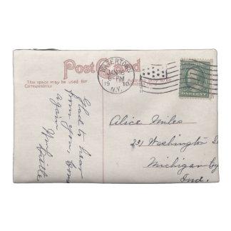 Vintage Mailed Postcard Design on Travel Bag Travel Accessories Bag