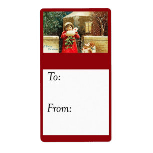 vintage mailing christmas cards gift tag - Mailing Christmas Cards