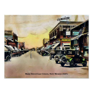 "Vintage Main Street 16""x12"" Poster"