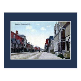 Vintage Main Street Yarmouth NS Postcard