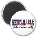 Vintage Maine de Demócrata del voto en 2010 - Imán Para Frigorifico