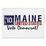 Vintage Maine de Demócrata del voto en 2010 - Tarjeta
