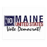 Vintage Maine de Demócrata del voto en 2010 - Tarjeta Postal