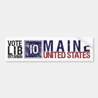 Vintage Maine del libertario del voto en 2010 - Etiqueta De Parachoque