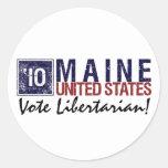Vintage Maine del libertario del voto en 2010 - Etiqueta Redonda
