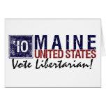 Vintage Maine del libertario del voto en 2010 - Felicitaciones