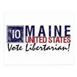 Vintage Maine del libertario del voto en 2010 - Postales