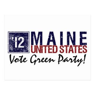 Vintage Maine del Partido Verde del voto en 2012 - Postales