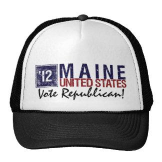 Vintage Maine del republicano del voto en 2012 - Gorras De Camionero