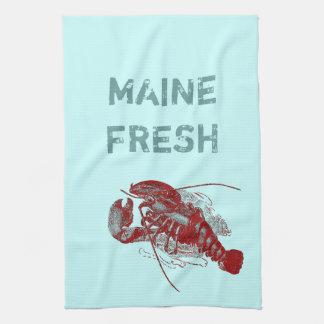 Vintage Maine Fresh Lobster Hand Towel