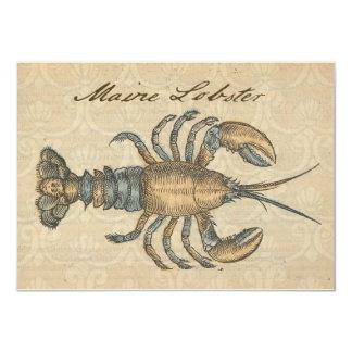 Vintage Maine Lobster Seafood Party Invitation