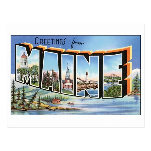 Vintage Maine Postcard