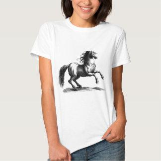 Vintage Majestic Horse Engraving Tee Shirt