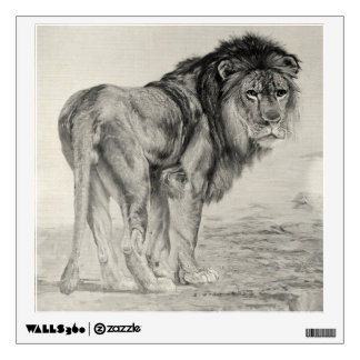 Vintage Majestic Lion Wall Decal