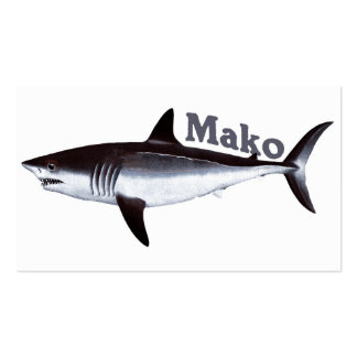 Vintage Mako Shark Business Card Template