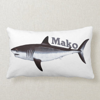 Vintage Mako Shark Lumbar Pillow