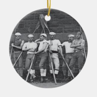Vintage Male Rowers Ceramic Ornament