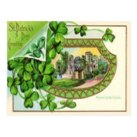 Vintage Mallow Castle St Patrick's Day Card Post Cards