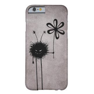 Vintage malvado del insecto de la flor funda de iPhone 6 barely there