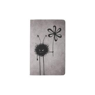 Vintage malvado del insecto de la flor funda para libreta y libreta pequeña moleskine