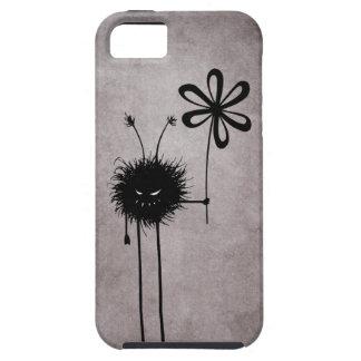 Vintage malvado duro del insecto de la flor iPhone 5 carcasa