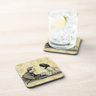Vintage Man And Woman Coaster