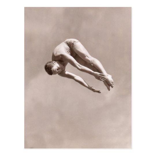Vintage Man Diving Postcard - 1766928.jpg