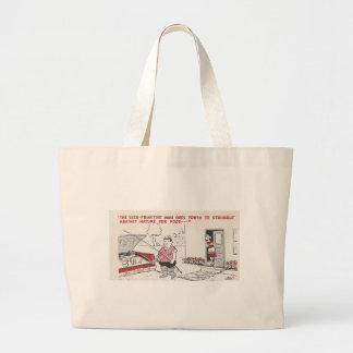 Vintage Man Grilling Food Humor Large Tote Bag