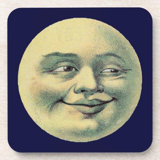 Vintage Man in the Moon Drink Coaster