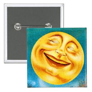 Vintage Man in the Moon Happy Moon Pinback Button