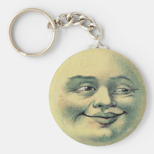 Vintage Man in the Moon keychain