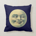 Vintage Man in the Moon Pillow