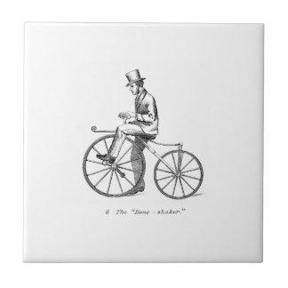 Vintage Man on Bike Tile