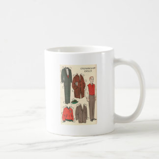 Vintage Man Paper Doll Coffee Mug