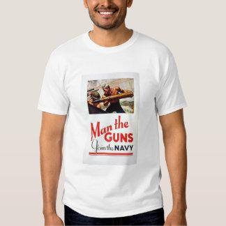Vintage Man The Guns, Join the Navy Recruitment Po Shirt