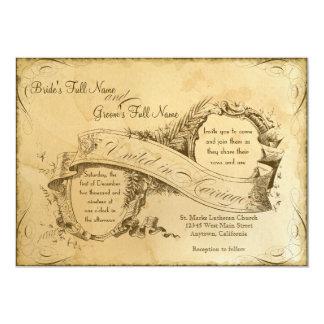 Vintage manchado té que casa 1 - la invitación