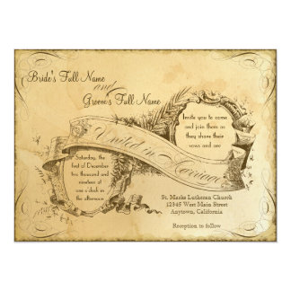 Vintage manchado té que casa 1 - la invitación invitación 13,9 x 19,0 cm