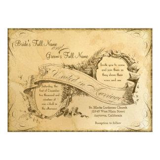 Vintage manchado té que casa 1 - la invitación inv