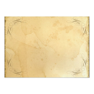 Vintage manchado té que casa 1 - nombres del invitación 11,4 x 15,8 cm