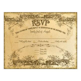 Vintage manchado té que casa 2 - la invitación inv