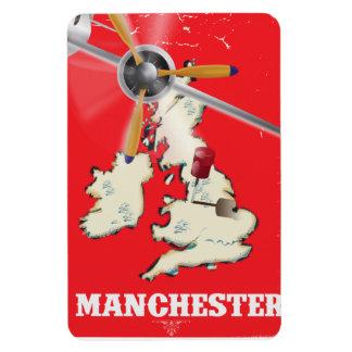 Vintage Manchester Travel Poster Magnet