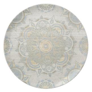 Vintage mandala melamine plate