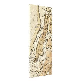 Vintage Manhattan Map (1781) Canvas Print