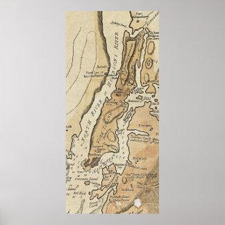 Vintage Manhattan Map (1781) Poster