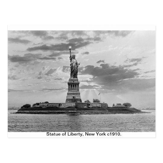 Vintage Manhattan, New York Statue of Liberty 1910 Postcard
