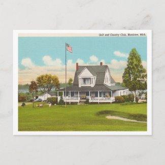 Vintage Manistee Golf & Country Club postcard